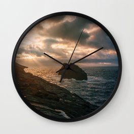 Dramatic Sunset Wall Clock