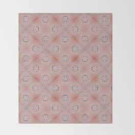 Blush Pink Tile Patten Throw Blanket