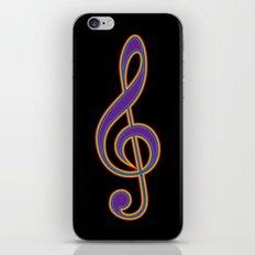 Rainbow G Clef Treble Clef Music Lover Musician iPhone Skin