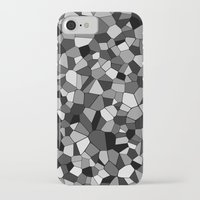gray pattern iPhone & iPod Cases featuring Gray Monochrome Mosaic Pattern by Margit Brack