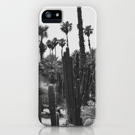 Tropical Cacti Gardens BW iPhone Case
