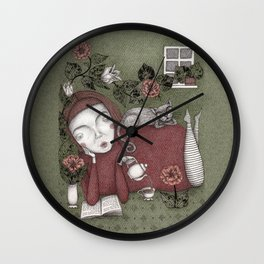 Staying Home  Wall Clock