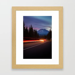 Curvy Mountain Road Framed Art Print