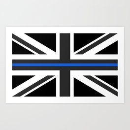 Thin Blue Line UK Flag Art Print