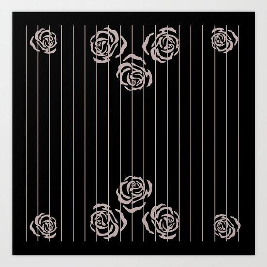 rose border Art Print