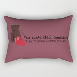 Outlaw Queen Quote (OUAT) Rectangular Pillow