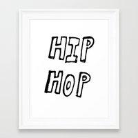 hip hop Framed Art Prints featuring HIP HOP by Simon Greiner