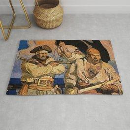 """Pirates"" Treasure Island Cover by NC Wyeth Rug"