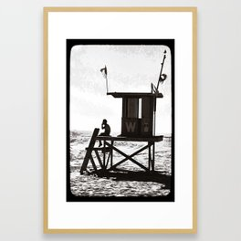 W is for the Wedge Framed Art Print