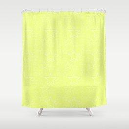 Black and Yellow Stars Shower Curtain