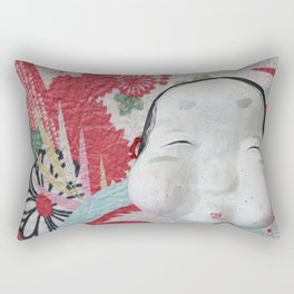 Smile Your Way Through (Japanese Goddess of Mirth) Rectangular Pillow