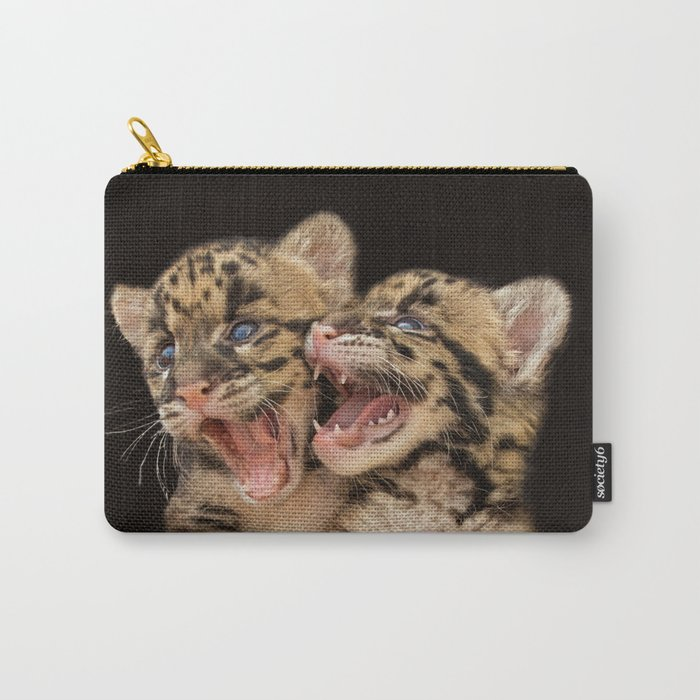 CLOUDED LEOPARD CUBS LOVE Carry-All Pouch