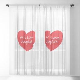 Love Funny Concept Illustration Sheer Curtain