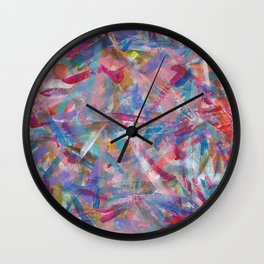 Art Studio Experimentation Wall Clock