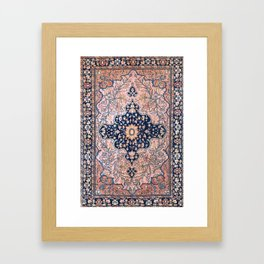 Sarouk  Antique West Persian Rug Print Framed Art Print