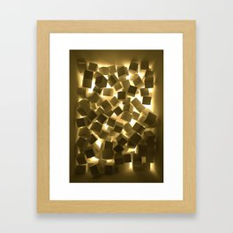3D What Burns in Your Box? Framed Art Print