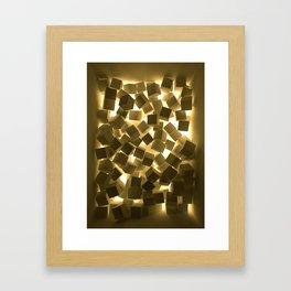 3D What Burns in Your Box? Framed Art Print