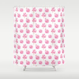 Rose Pop Pattern Shower Curtain