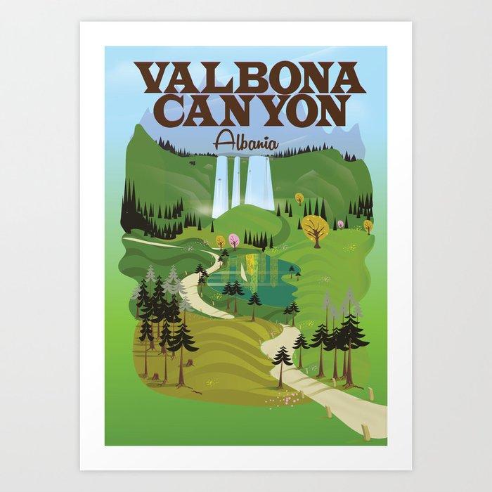 valbona canyon, Albania holiday poster. Kunstdrucke