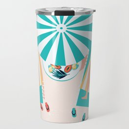 My Day Off - Kitschy Ladies Lounging at the Beach Travel Mug