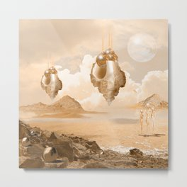 Mission on a far planet Metal Print