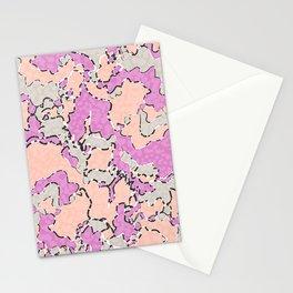 Cartografía de Orquídea  Stationery Cards