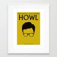 howl Framed Art Prints featuring HOWL by tolga araboglu