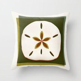 Sand Dollar - Earthy Palette Throw Pillow