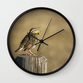Song of a Meadowlark Wall Clock