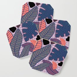Palm & Monstera Leaves Coaster