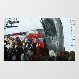 London Underground Part 3, England Acrylic On Canvas Board Fine Art Rug