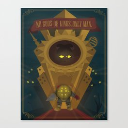 Rapture: No Gods or Kings. Only Man. (BioShock) Canvas Print