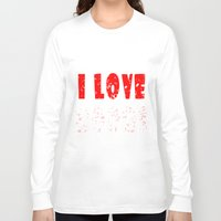 boobs Long Sleeve T-shirts featuring I love boobs by siti fadillah