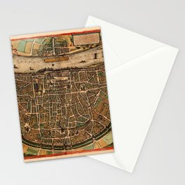 Map Of Cologne 1572 Stationery Cards