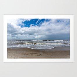 Oak Island NC beach Art Print