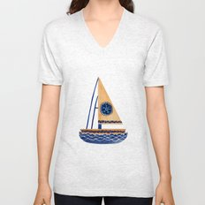 The Tribal Sailboat Unisex V-Neck
