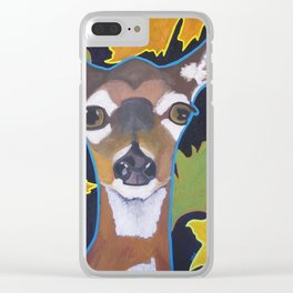 An Autumn Deer Clear iPhone Case