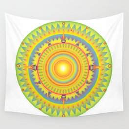 aztec sun dial Wall Tapestry