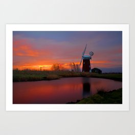 Horsey Windpump 01 Art Print