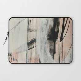 Sweet Tart [2]: a minimal abstract mixed-media piece in pink black and white by Alyssa Hamilton Art Laptop Sleeve