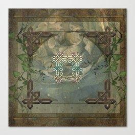 Wonderful decorative celtic knot Canvas Print