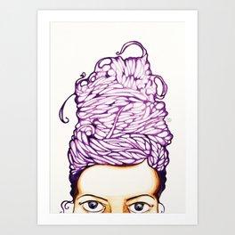 Hair do Art Print