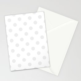 Polka Dots - Pale Gray on White Stationery Cards