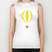 hot air balloon Biker Tanks featuring Hot Air Balloon Illustration by Rachel J