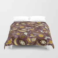 potter Duvet Covers featuring Potter Paisley by Kate Moore