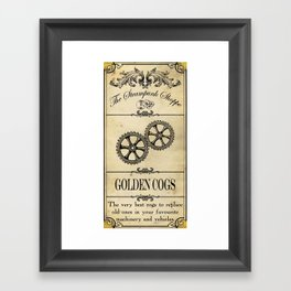 Steampunk Apothecary Shoppe - Cogs Framed Art Print