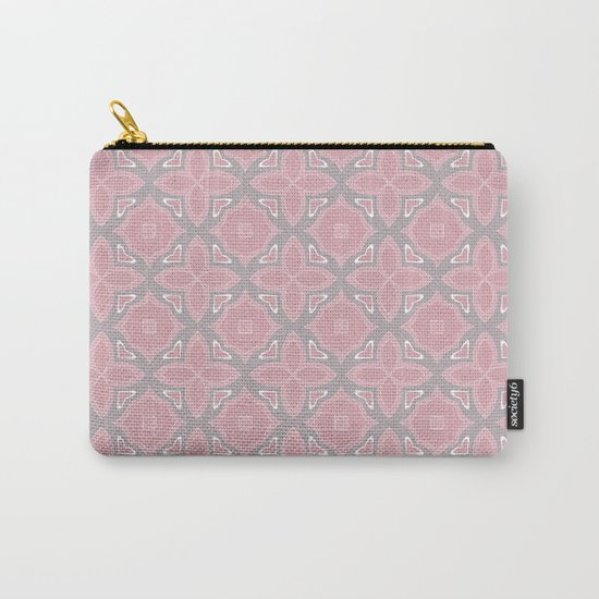 Fashionable pink and grey geometric pattern Carry-All Pouch