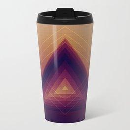 Geometric Abstraction Metal Travel Mug