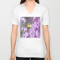 bee and puppycat V-neck T-shirts featuring Bee by Dora Birgis