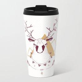 Christmas Geo Deer 2 Metal Travel Mug